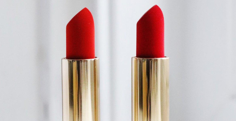Lisa Eldridge Plush Velvet Lipsticks in 'Velvet Morning'(left) & 'Velvet Ribbon' (right)