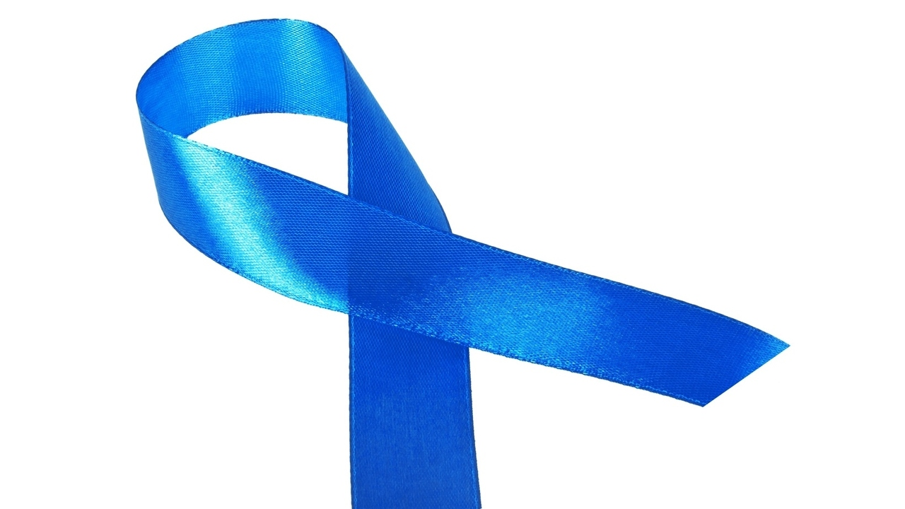 ME/CFS Awareness blue ribbon isolated on white background