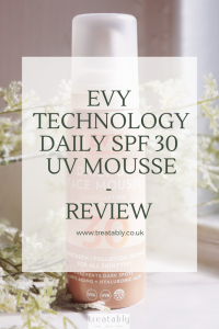 Always on the hunt for the perfect SPF? Me too! I've been trying out @EvySunscreen_uk SPF30 Daily UV Face Mousse, read on to find out what I think! A brand that's great for adults and kids alike! amyschapter.com/evy-technology… #beauty #SPF #skincare
