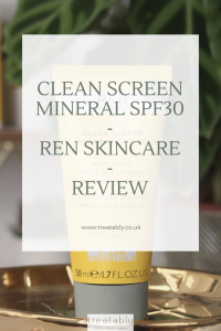 REN Skincare Clean Screen Mineral SPF30 A mineral SPF boasting broad spectrum UVA/UVA protection and blue light technology to boot. Are you looking for a mineral SPF to protect your skin? Read on to see if this is for you.