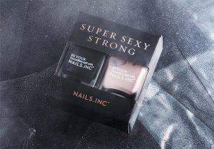Gift Guide - Xmas Nail varnish by Nails INC. Black and Nude colour nail polish