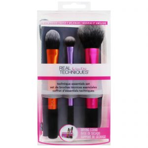 Real Techniques makeup brushes - Three face and eye brushes in a set.