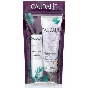 Caudalie hand cream and lip balm set