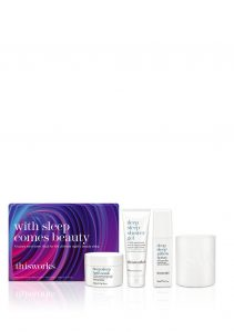 Beauty Gift Set - This Works sleep spray, lavender candle, bath soap and shower gel in a set