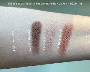 Swatches of Bobbi Brown Love In The Afternoon Eyeshadow Palette