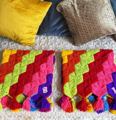 Rainbow Crochet Hexy Blanket – The perfect Kids afghan