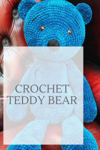 Crochet Teddy Bear! Find out how to make this gorgeous bear in this post!