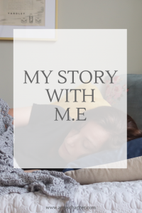 My Story With ME/CFS. Amy tells her story of her 20 year long batter with M.E in order to help raise awareness of the illness.