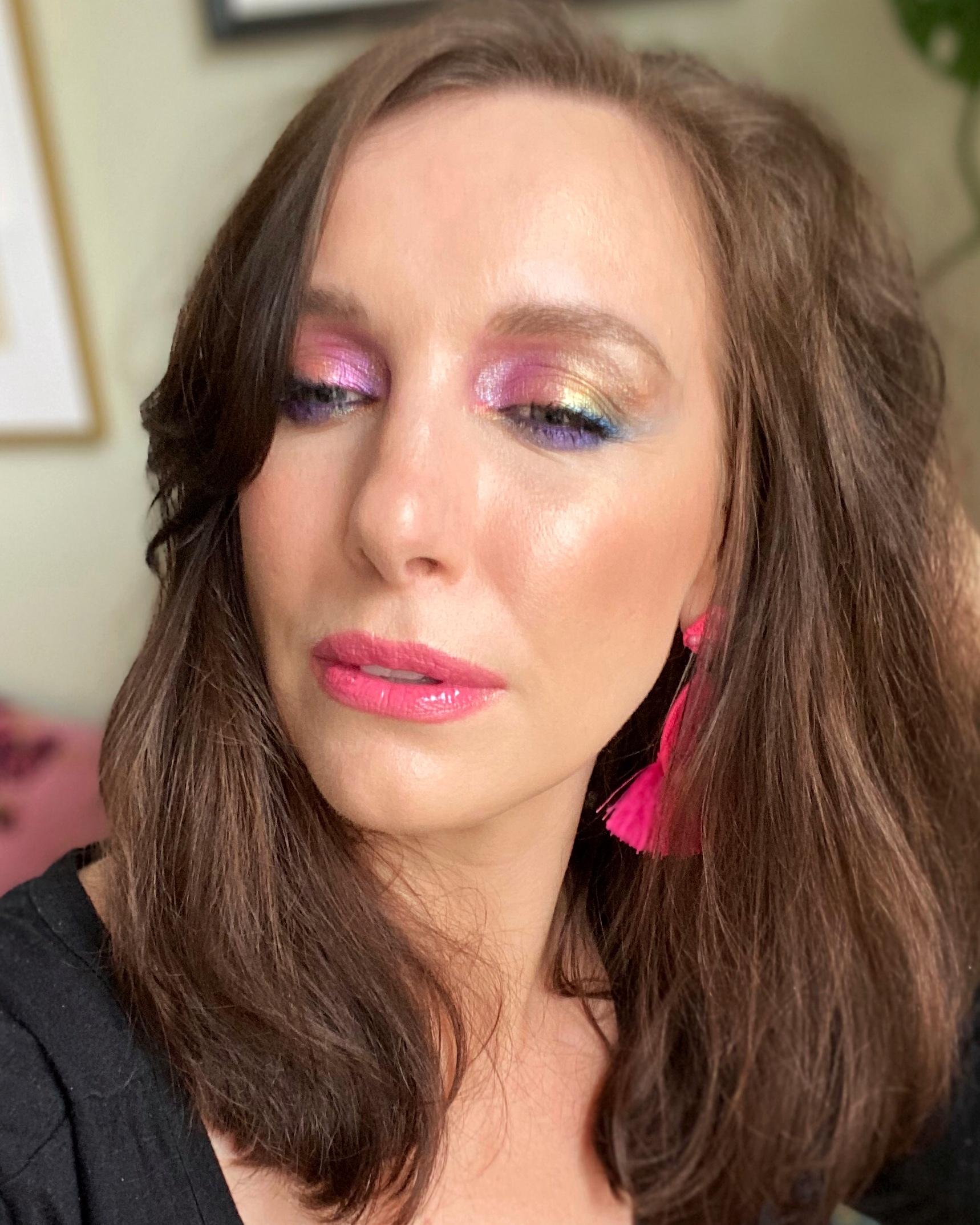 rainbow eye makeup for pride