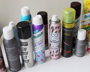 collection of various hair products