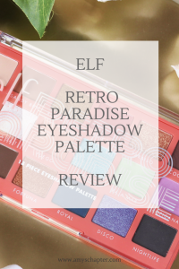 ELF Retro Paradise Eyeshadow Palette Review! Read on to find out all about this new cruelty free and vegan friendly release from ELF!