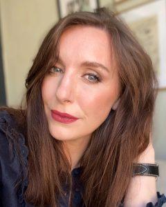 Amy, a north east beauty blogger and makeup artist wears Lisa Eldridge Lipstick in 'velvet blush'