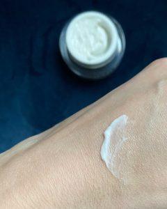 Matis Eye Cream swatch on hand