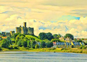 north east art walkwarth castle