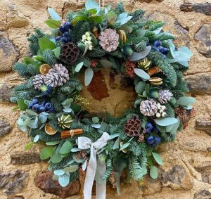 christmas wreath north east the bee and botanist