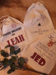 Shop local xmas gifts Santa sacks