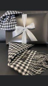 northumberland tartan tea towel xmas gifts