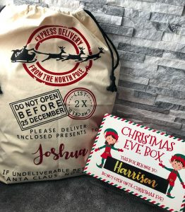 small business north east blog personalised Santa sack