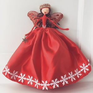 handmade Christmas gifts fairy in red dress