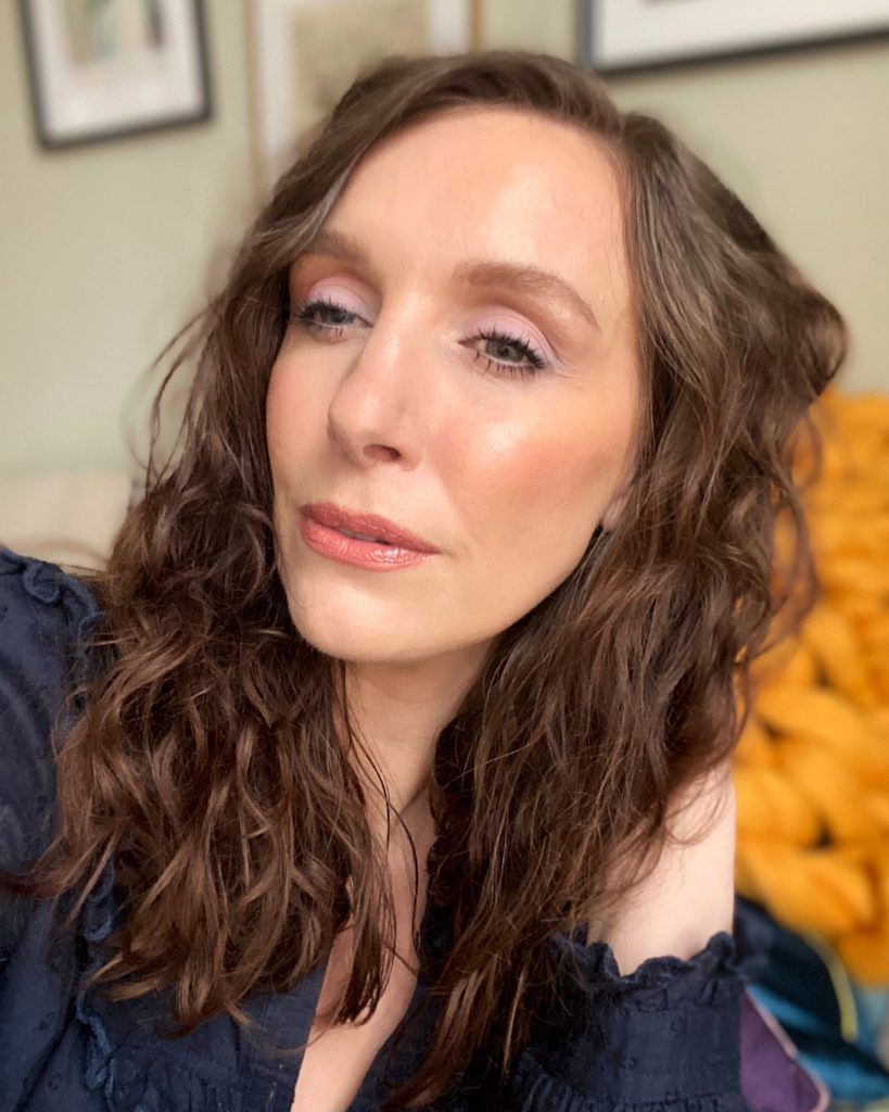 North east beauty blogger makeup artist Amy using vegan makeup to create a look