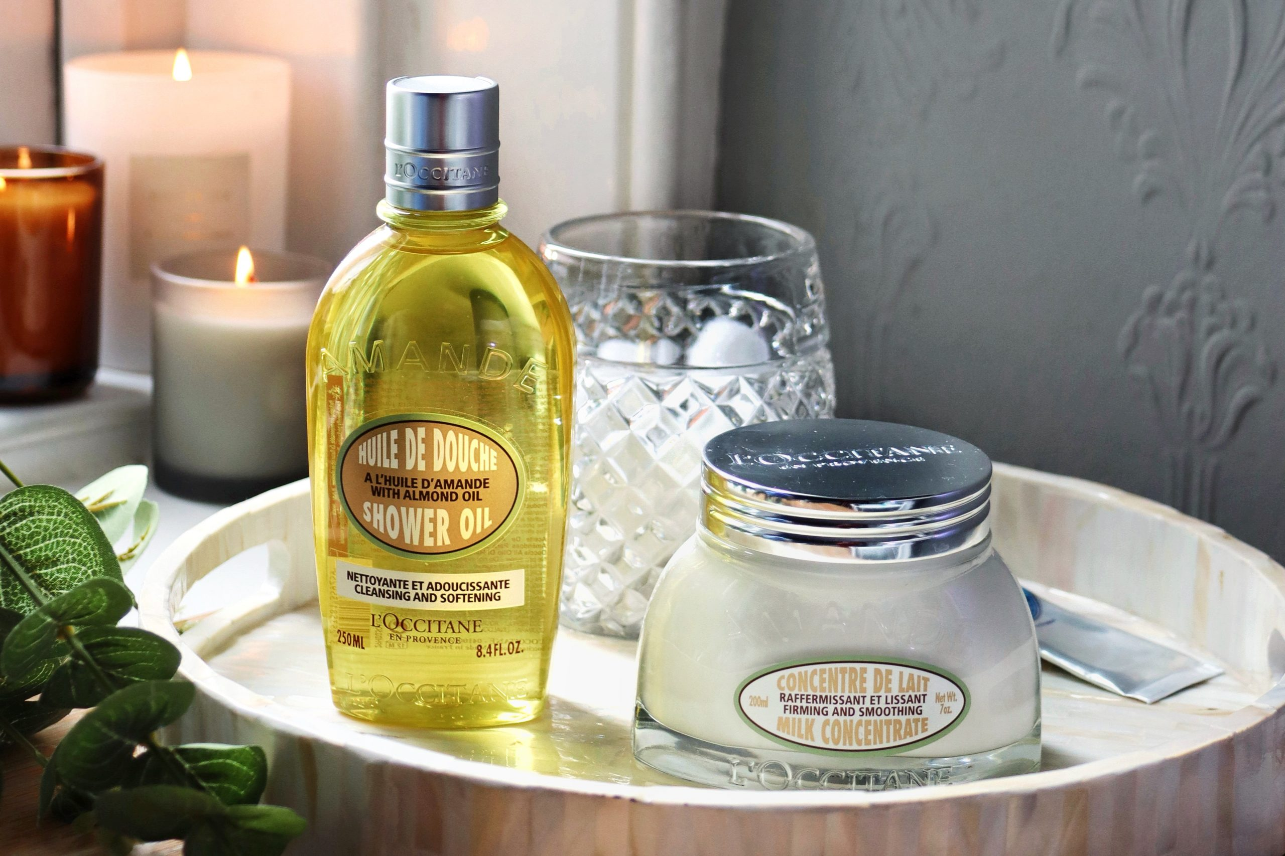 L'occitane Almond Milk Concentrate and Almond Shower Gel French Skincare