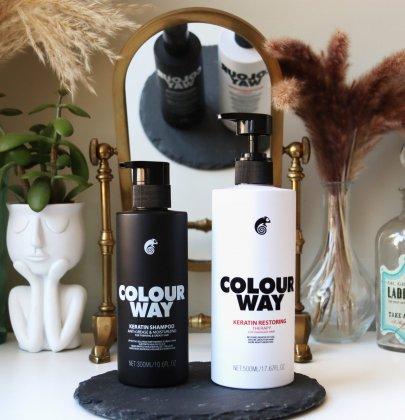 Colourway Haircare – Keratin Shampoo & Keratin Restoring Therapy Hair Mask